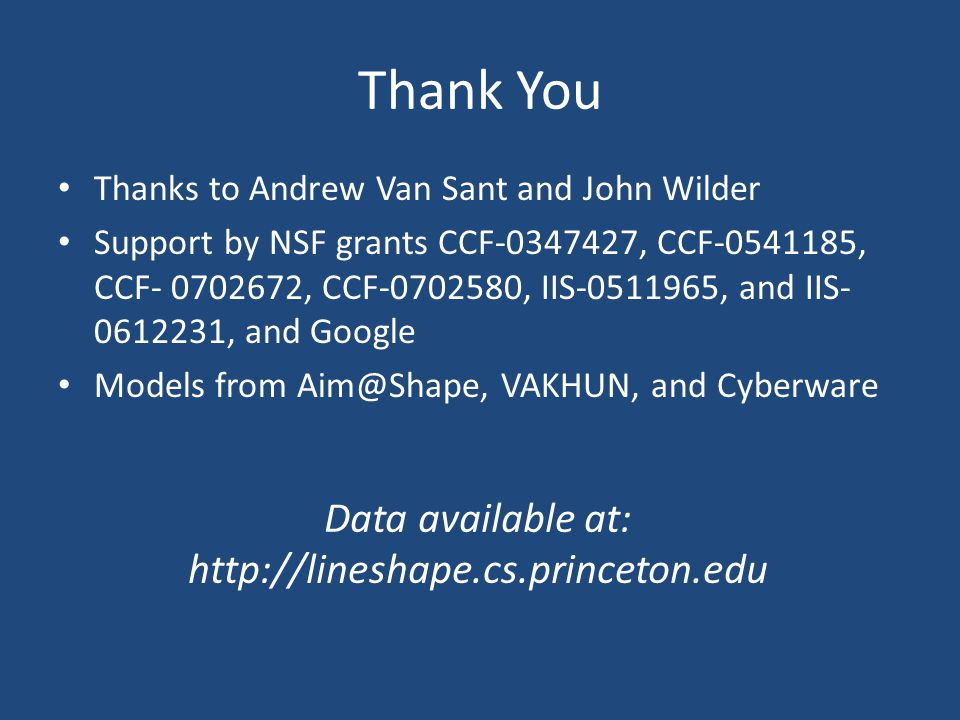Thank You Thanks to Andrew Van Sant and John Wilder Support by NSF grants CCF-0347427, CCF-0541185, CCF- 0702672, CCF-0702580, IIS-0511965, and IIS- 0
