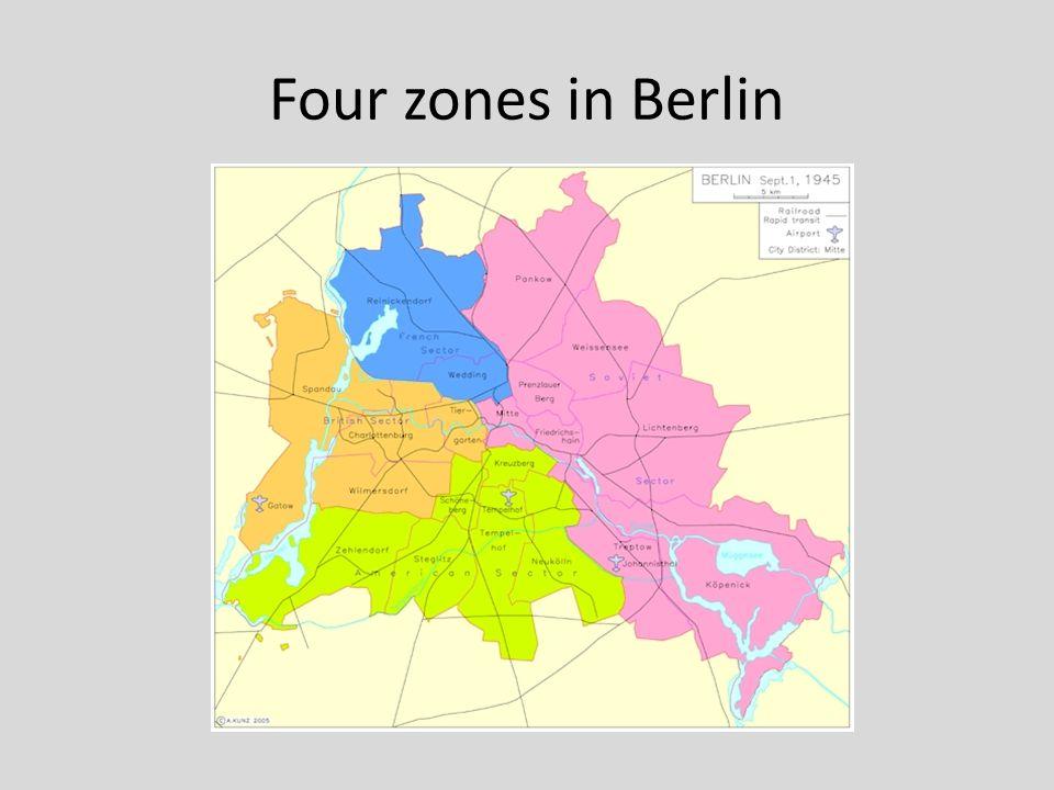 Four zones in Berlin