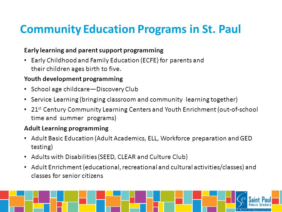 Community Education Programs in St.