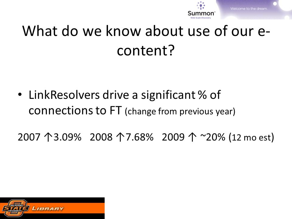 What do we know about use of our e- content.