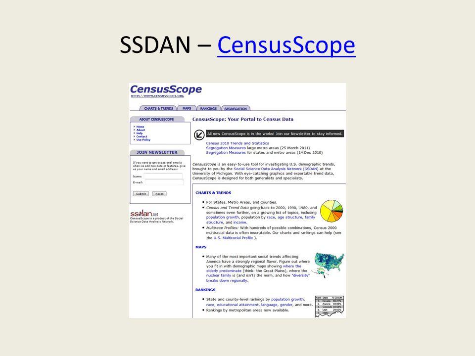 SSDAN – CensusScopeCensusScope