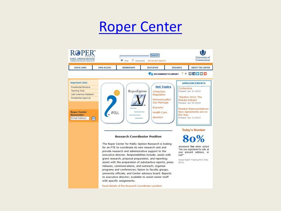 Roper Center