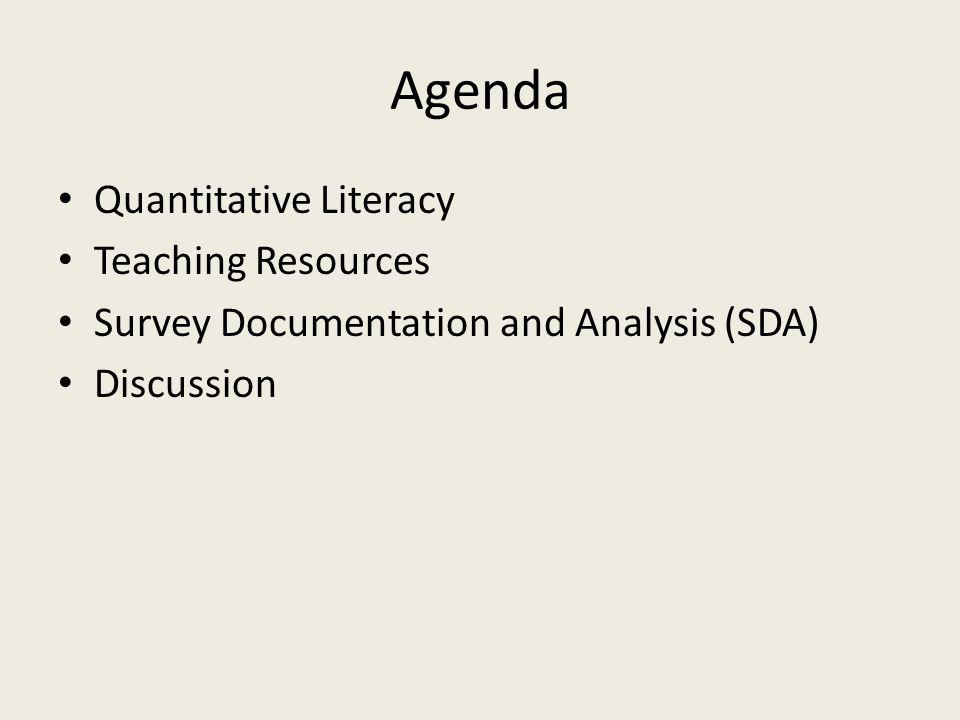 Quantitative Literacy Rhonda Dugan Sociology CSU Bakersfield rdugan2@csub.edu