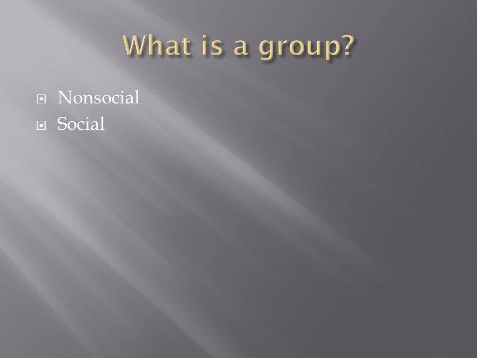  Nonsocial  Social