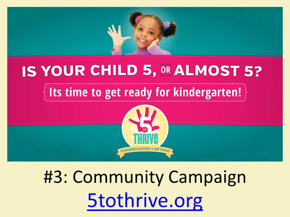 5tothrive.org #3: Community Campaign