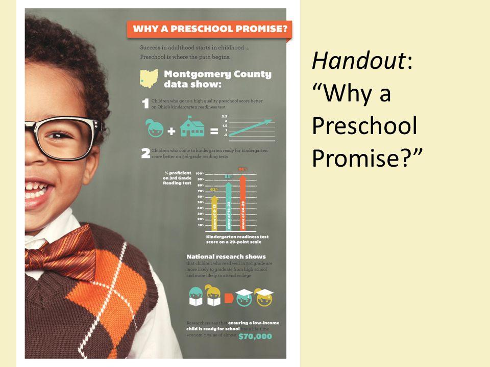"Handout: ""Why a Preschool Promise?"""