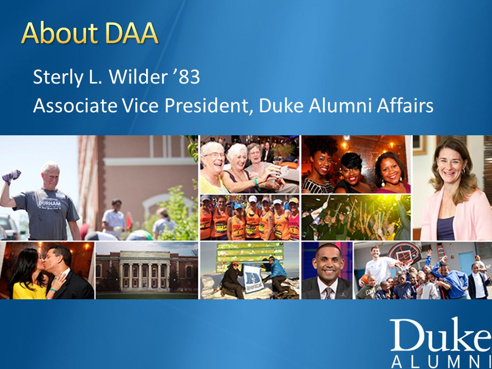 Sterly L. Wilder '83 Associate Vice President, Duke Alumni Affairs