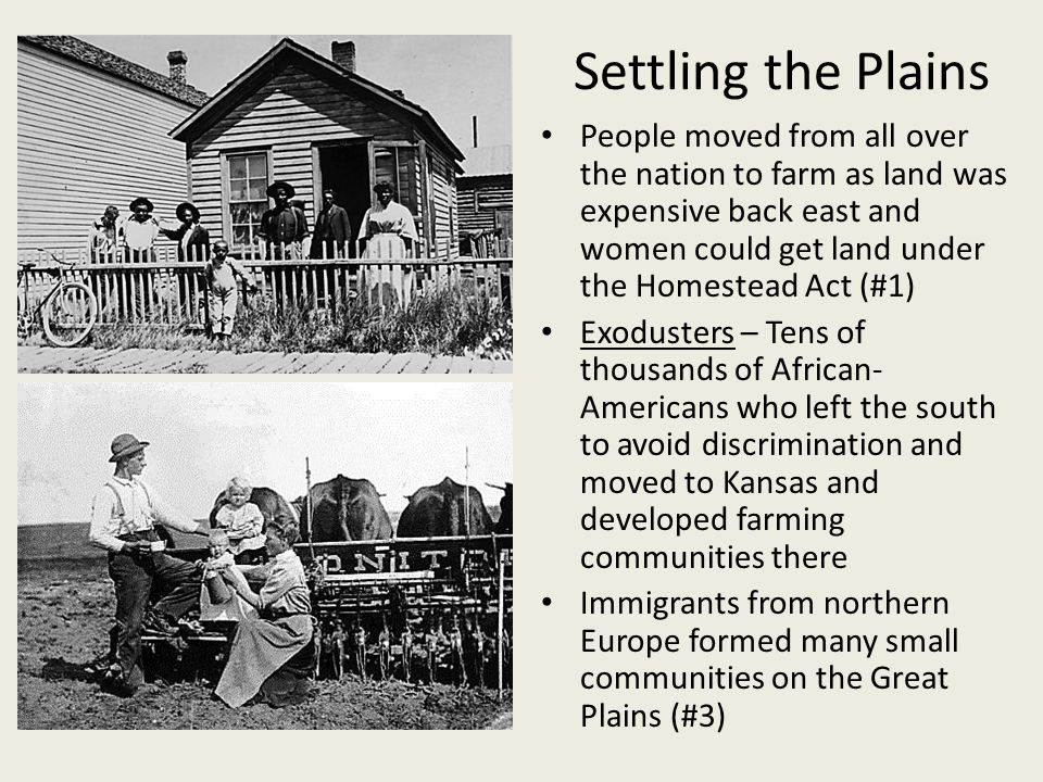 End of the Frontier In 1870 only small portions of the Great Plains remained unsettled (#1) In 1889 the US govt.