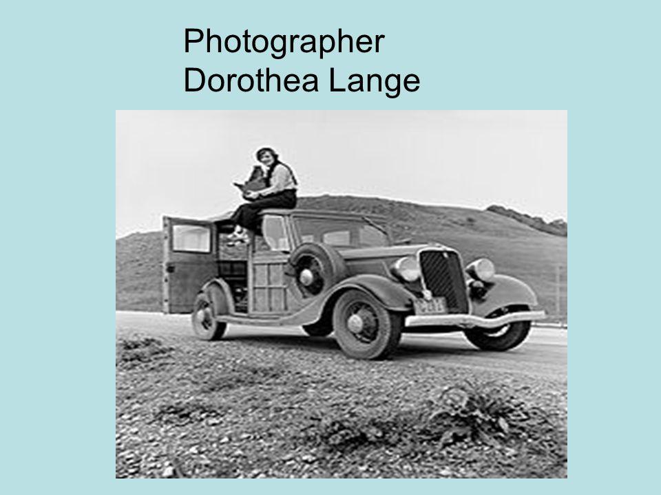 Photographer Dorothea Lange