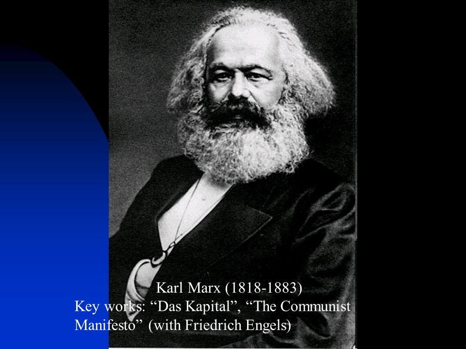 Karl Marx (1818-1883) Key works: Das Kapital , The Communist Manifesto (with Friedrich Engels)