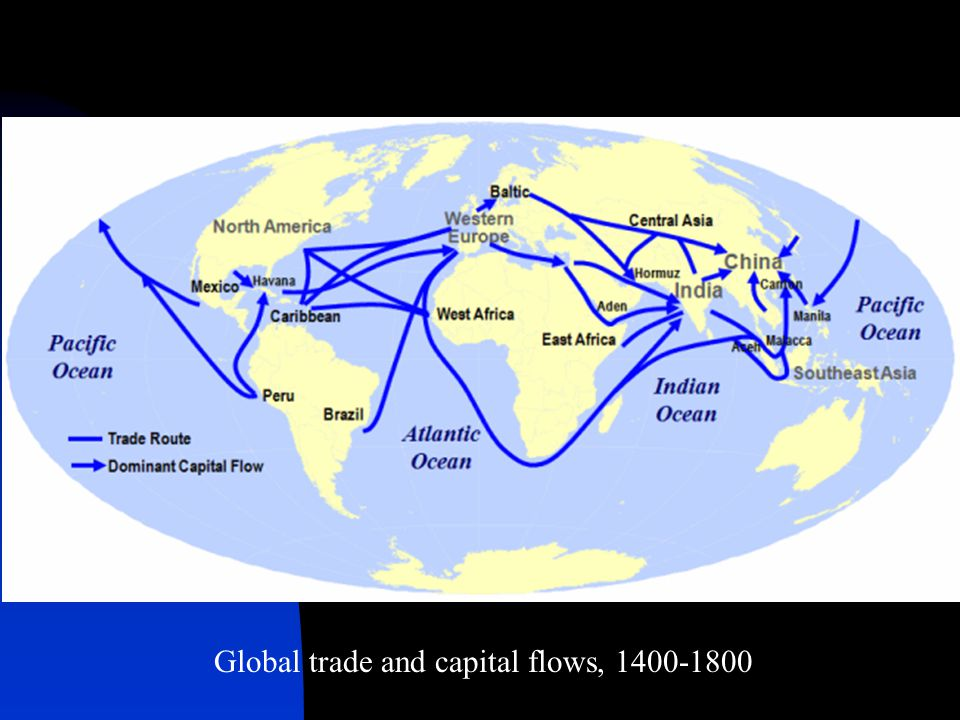 Global trade and capital flows, 1400-1800