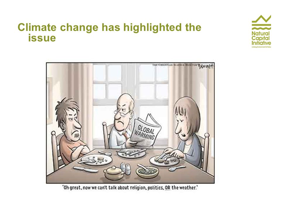 Climate change has highlighted the issue