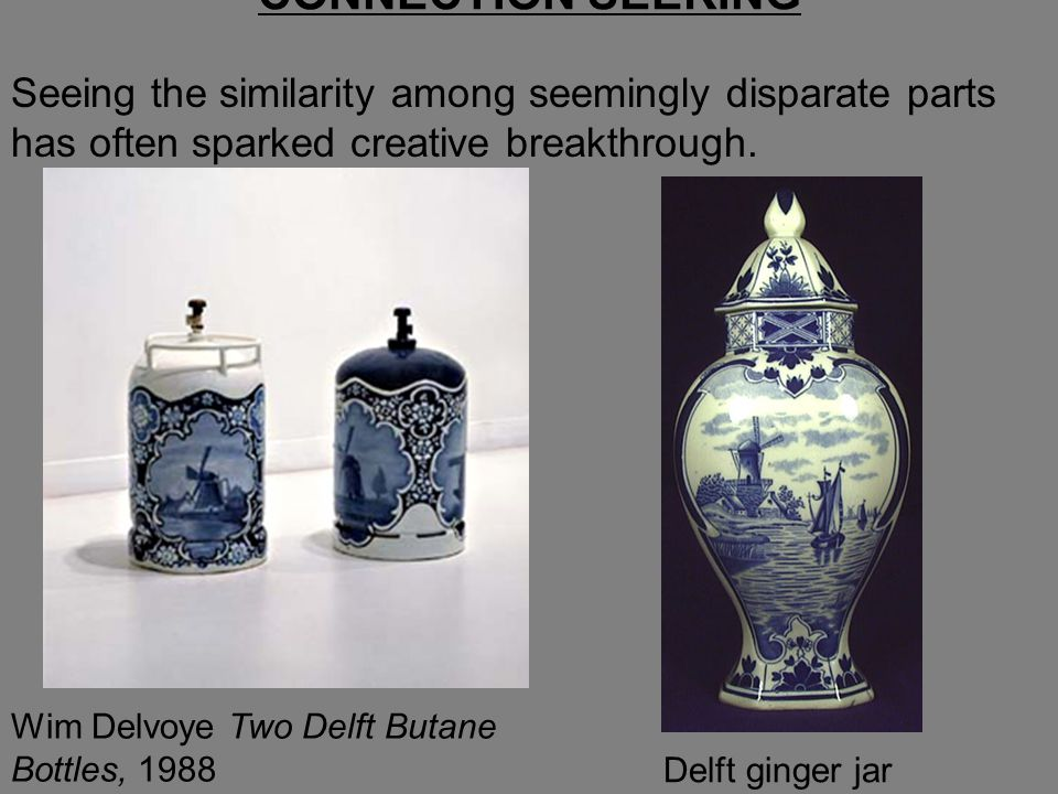 Seeing the similarity among seemingly disparate parts has often sparked creative breakthrough.
