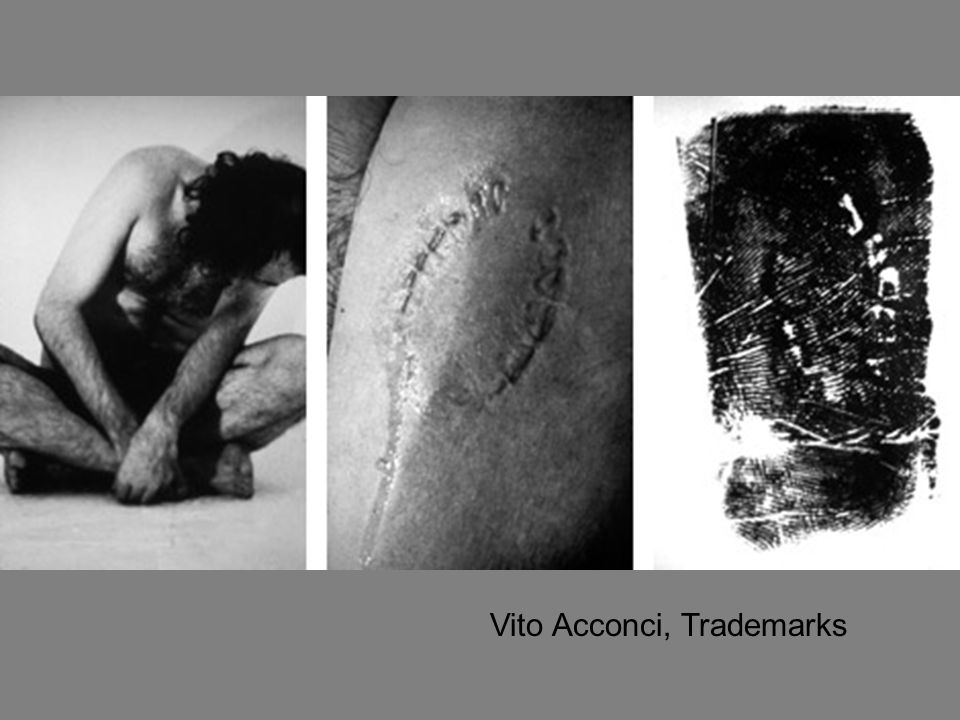 Vito Acconci, Trademarks