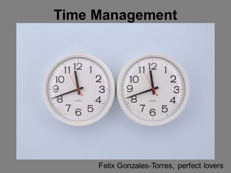 Time Management Set the Stage