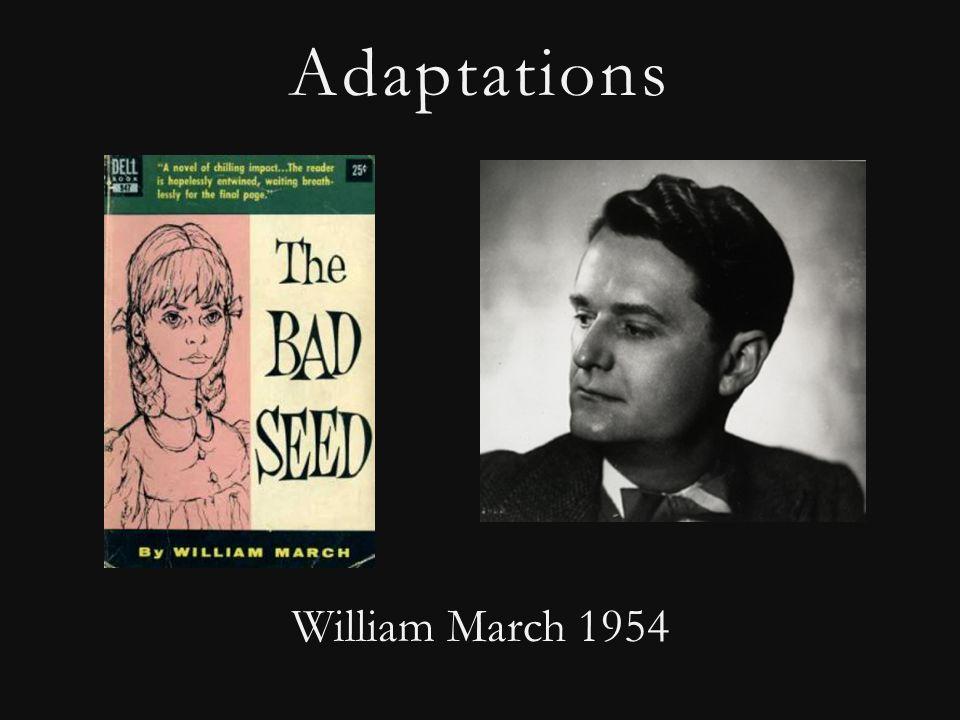 Adaptations William March 1954