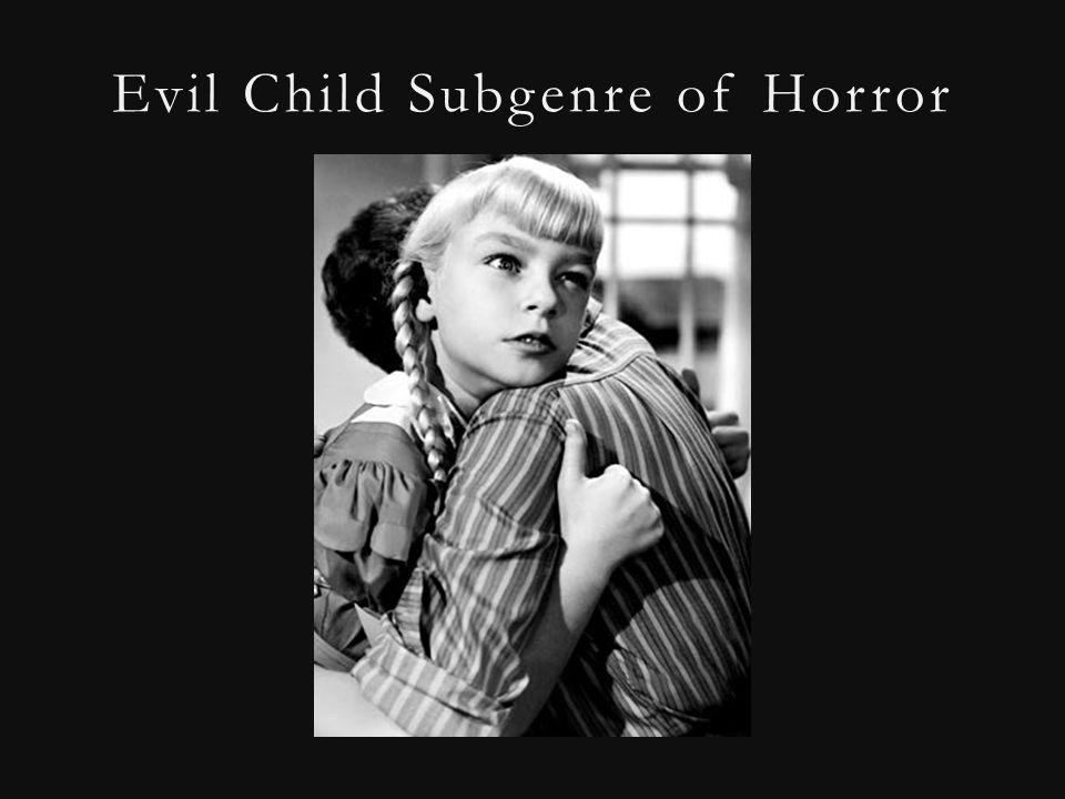 Evil Child Subgenre of Horror