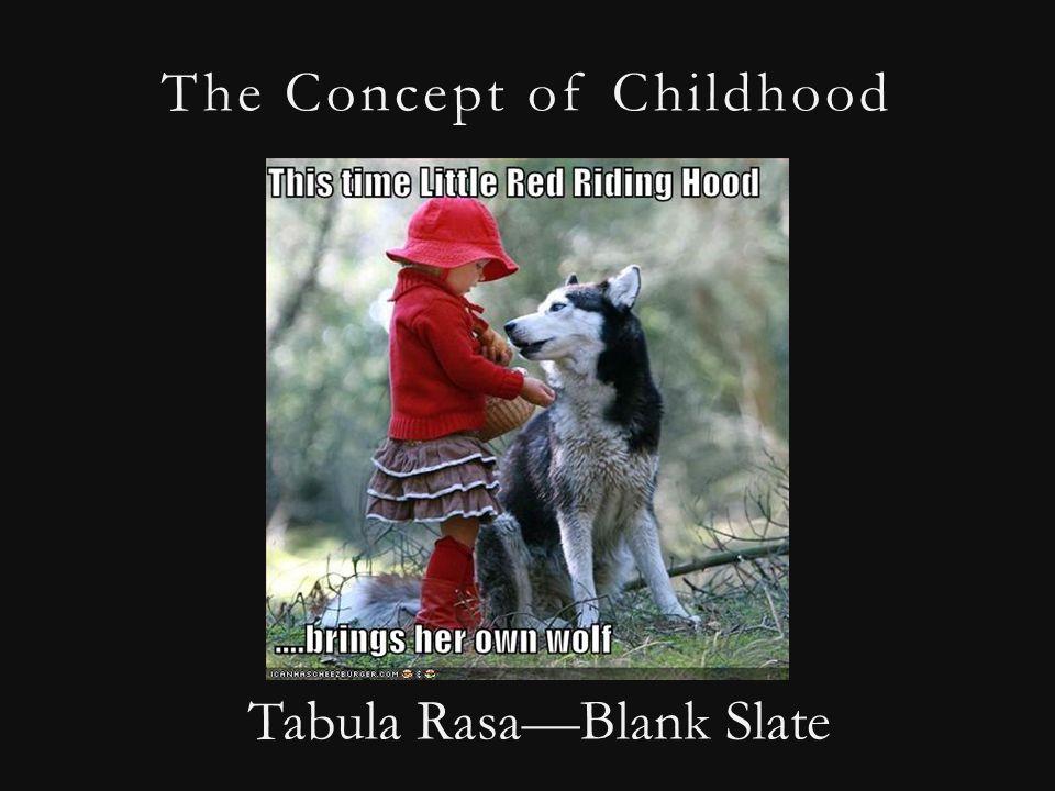 The Concept of Childhood Tabula Rasa—Blank Slate