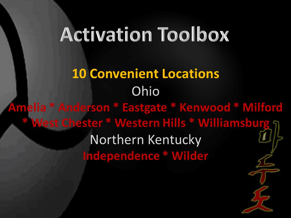 10 Convenient Locations Ohio Amelia * Anderson * Eastgate * Kenwood * Milford * West Chester * Western Hills * Williamsburg Northern Kentucky Independ
