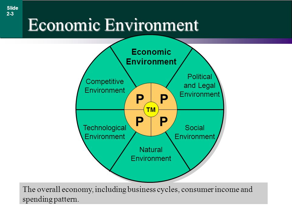 Slide 2-3 Economic Environment The overall economy, including business cycles, consumer income and spending pattern.