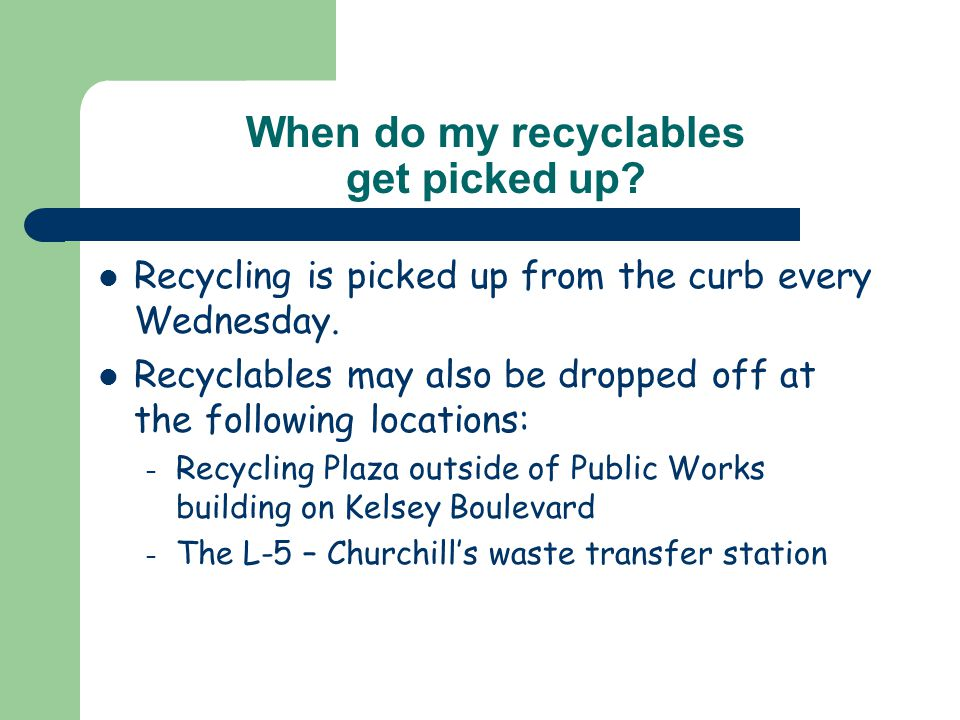 Why should I recycle.