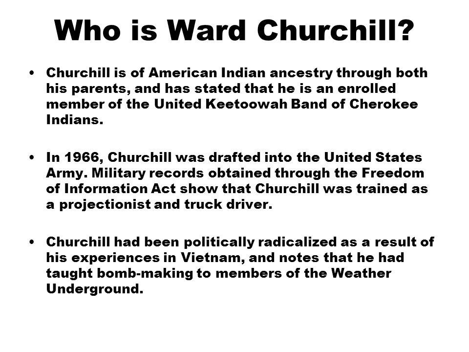 Who is Ward Churchill.
