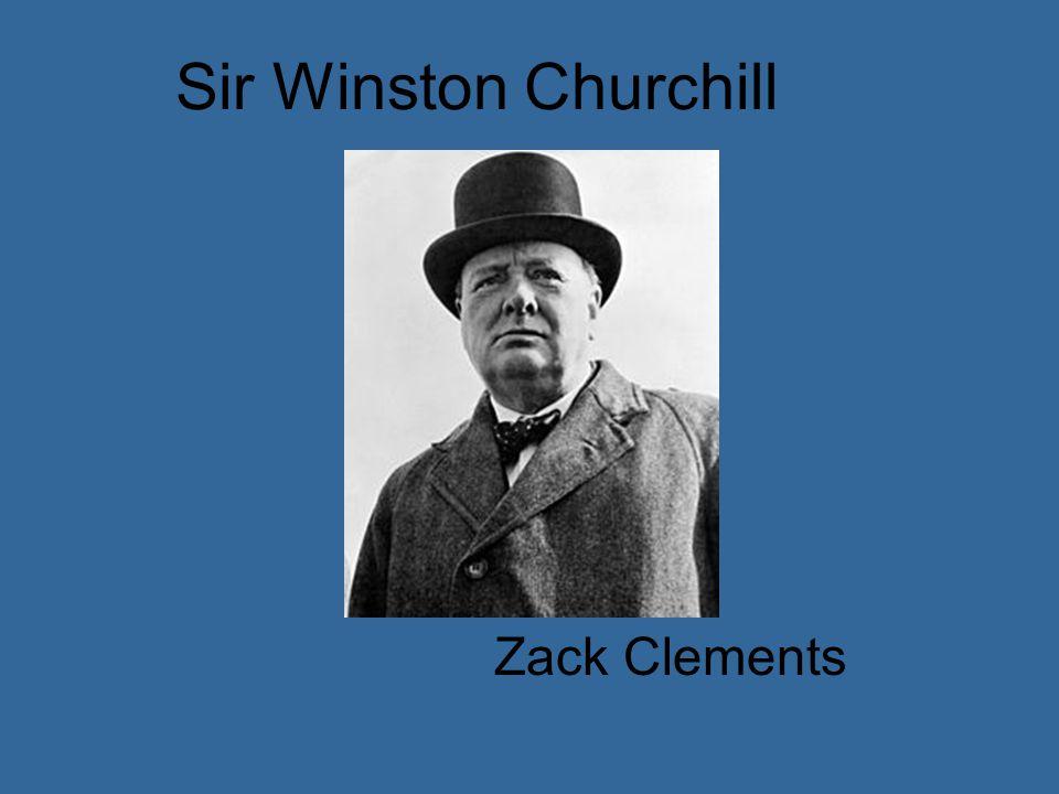 Sir Winston Churchill Zack Clements