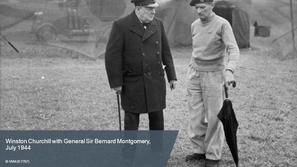 Winston Churchill with General Sir Bernard Montgomery, July 1944 © IWM (B 7767)