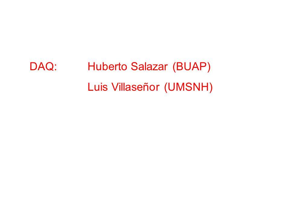 DAQ: Huberto Salazar (BUAP) Luis Villaseñor (UMSNH)