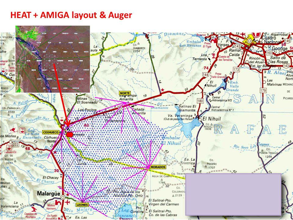 AMIGA layout Graded infill SD array 1.Full efficient @ E > 10 17 eV 5.9 km2 – 24 tanks – 433 m 2.