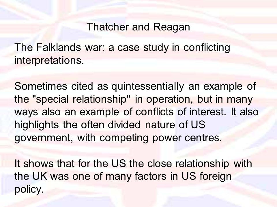 The Falklands war: a case study in conflicting interpretations.