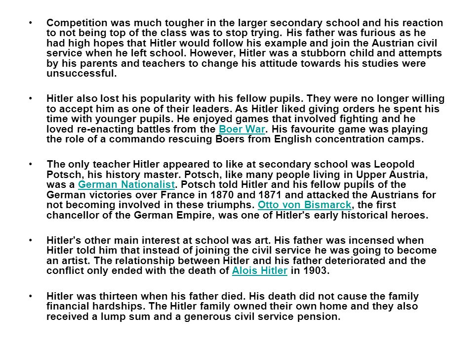 Adolf Hitler was born on 20th April, 1889, in the small Austrian town of Braunau near the German border.