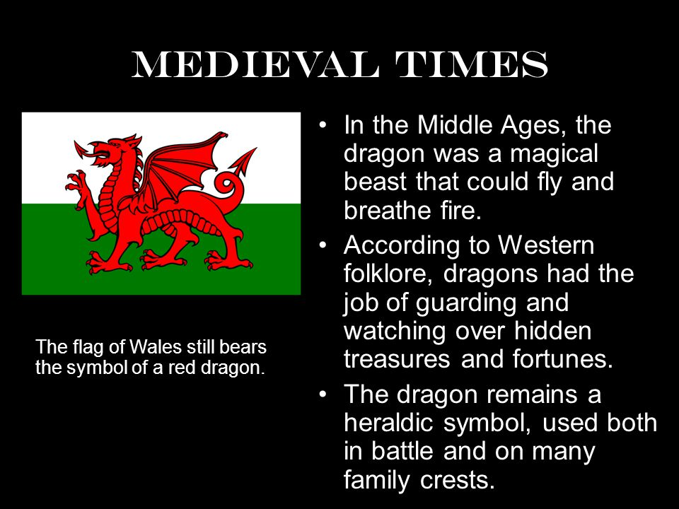 Medieval Times In the Middle Ages, the dragon was a magical beast that could fly and breathe fire.