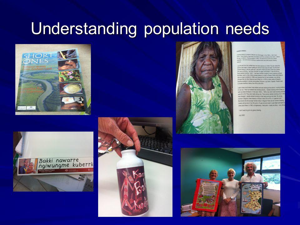Understanding population needs