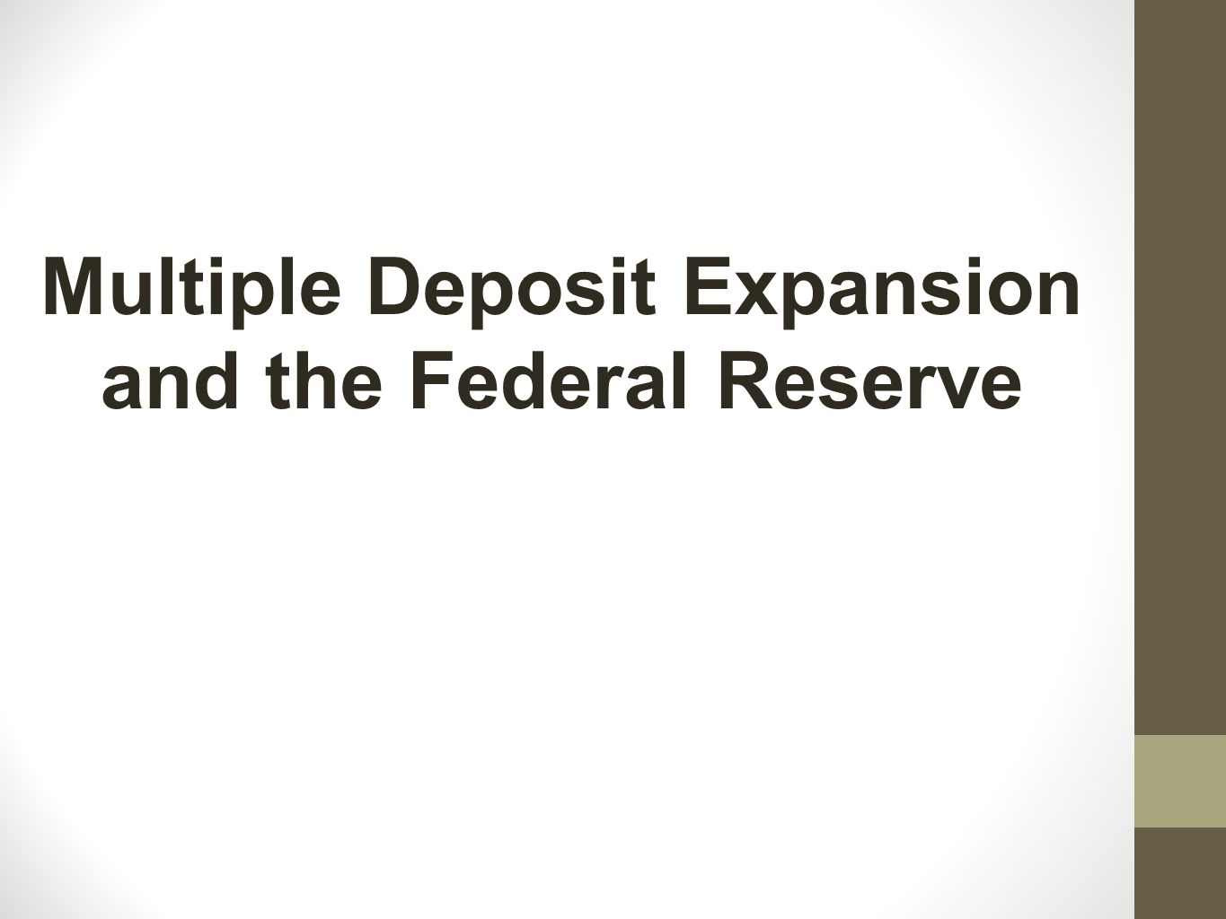 The Federal Reserve System The Federal Reserve was established in 1913 to regulate the banking system There is a Board of Governors of 7 members, appointed by the president for 14 year, staggered terms The Federal Open Market Committee includes the 7 governors, and 5 of the regional Federal Reserve Bank presidents (New York region always included) and they set policy of the buying and selling of government bonds Federal Advisory Council includes 12 important commerical bankers from each FED district who advise the Board