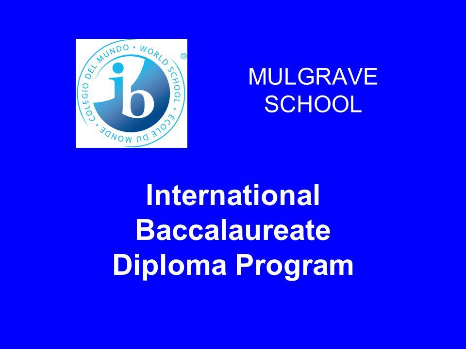 MULGRAVE SCHOOL International Baccalaureate Diploma Program