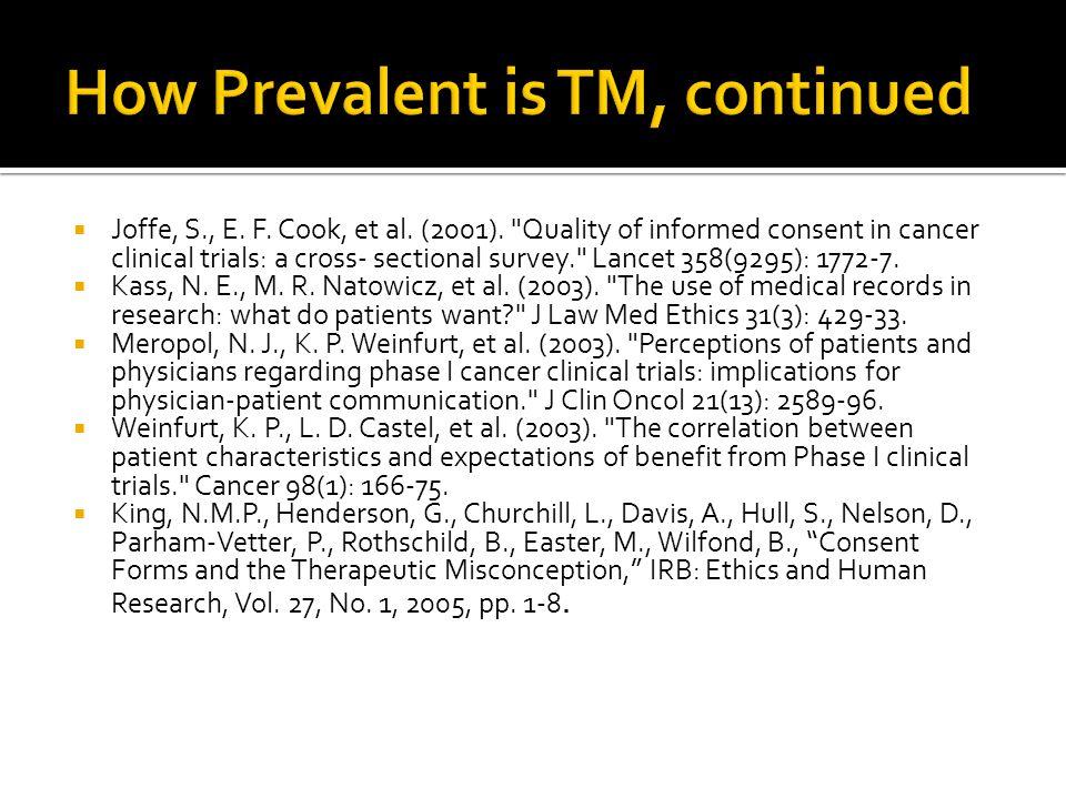  Joffe, S., E. F. Cook, et al. (2001).