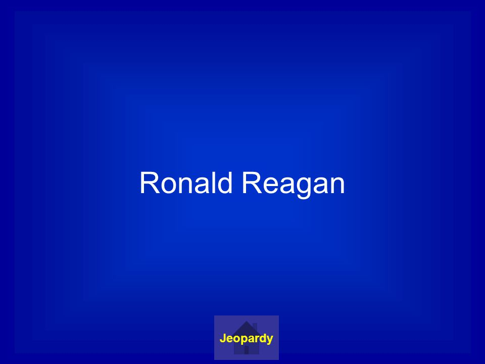 Ronald Reagan Jeopardy