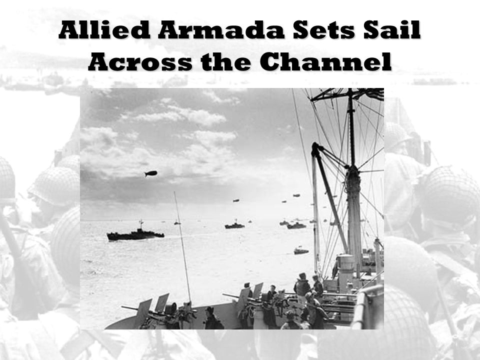 Allied Armada Sets Sail Across the Channel
