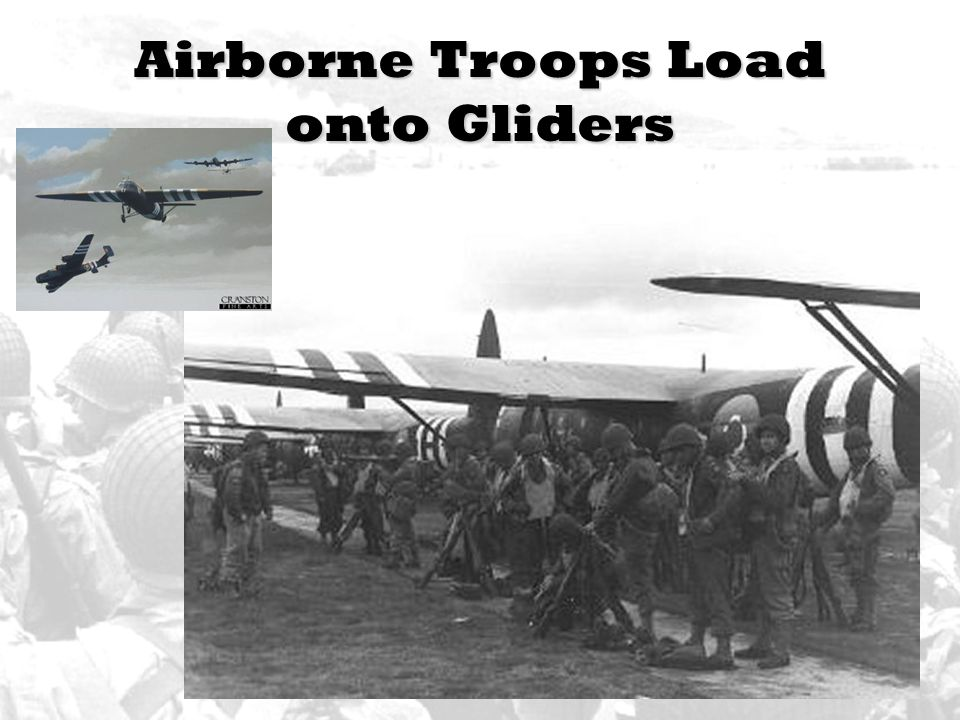 Airborne Troops Load onto Gliders