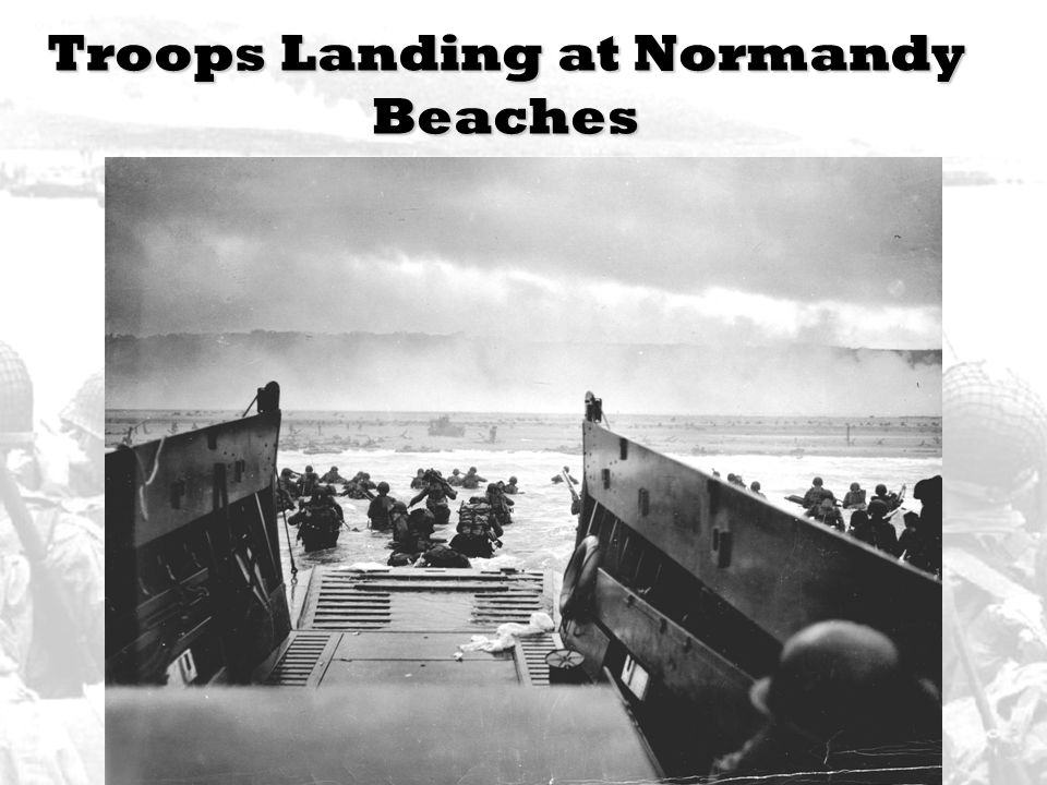 Troops Landing at Normandy Beaches