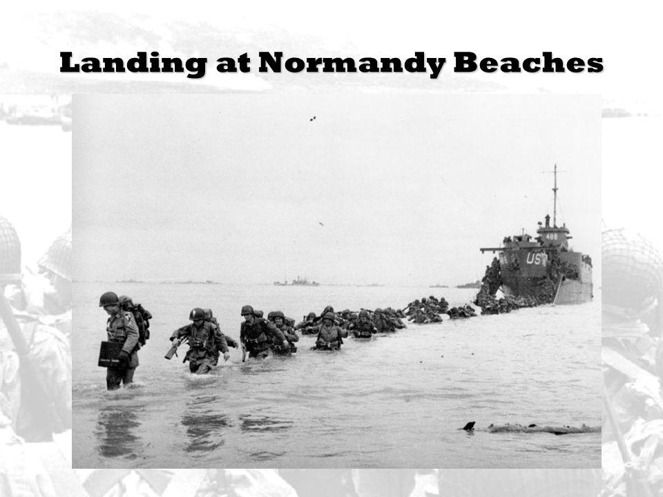 Landing at Normandy Beaches