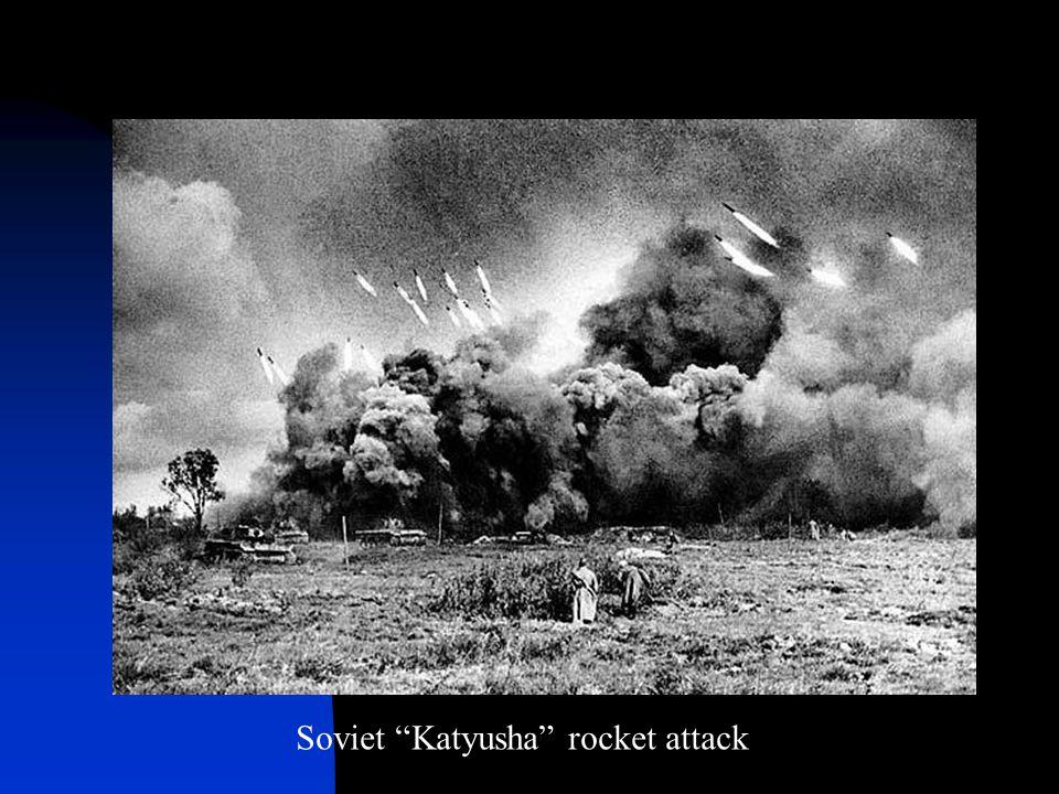 """Soviet """"Katyusha"""" rocket attack"""
