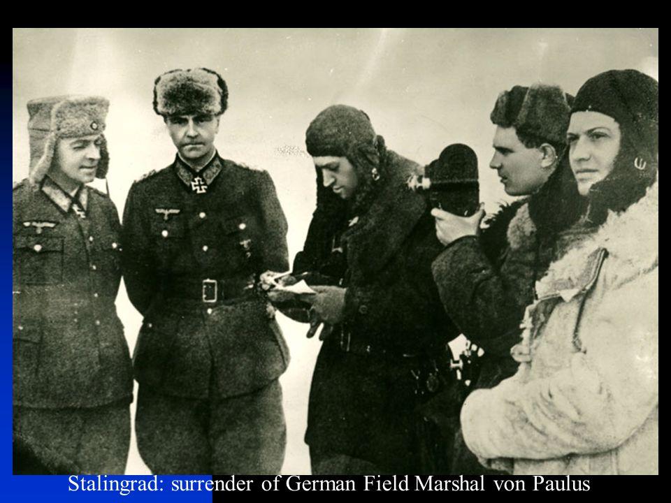Stalingrad: surrender of German Field Marshal von Paulus