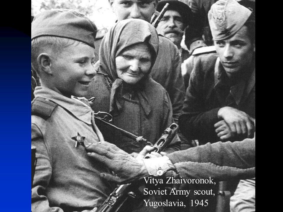 Vitya Zhaivoronok, Soviet Army scout, Yugoslavia, 1945