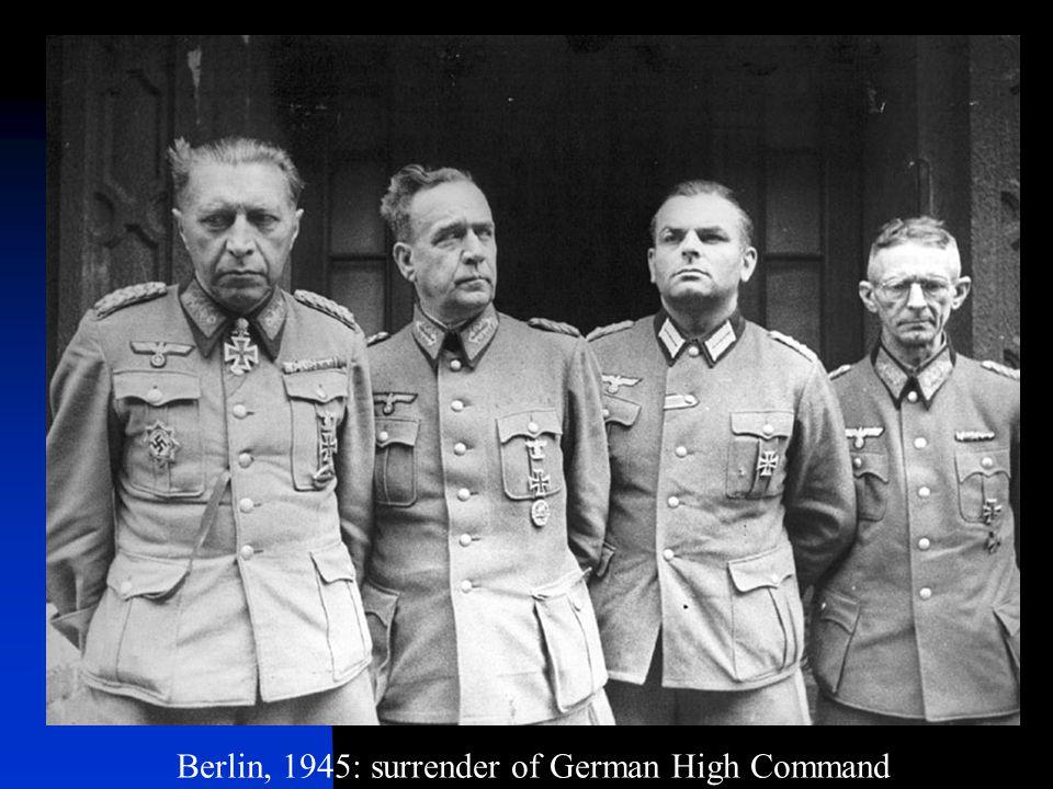 Berlin, 1945: surrender of German High Command