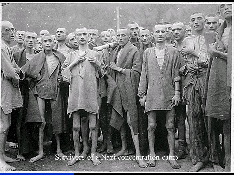 Survivors of a Nazi concentration camp