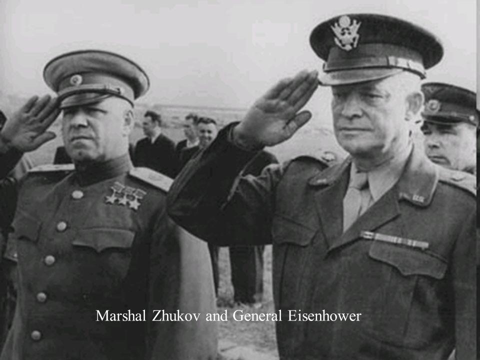Marshal Zhukov and General Eisenhower