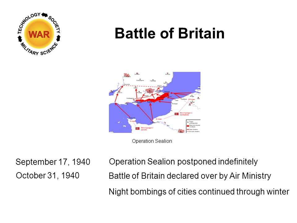 Battle of Britain: Phase IV Source: Royal Air Force Night Attacks on Cities & Industrial Areas 6 October 1940 - 10 May 1941 (unofficially)