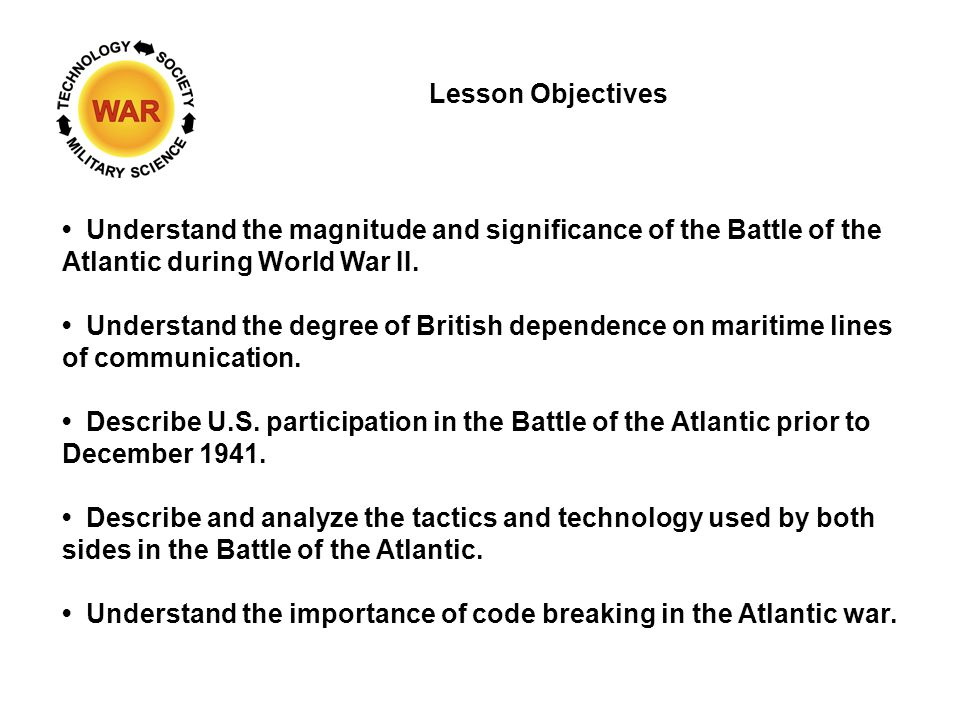 Lesson 14 WW II -- Second Battle of the Atlantic